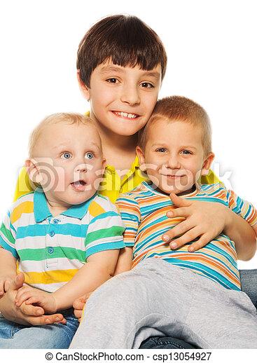 Happy siblings - csp13054927