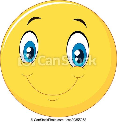 Happy smile face emoticon - csp30855063