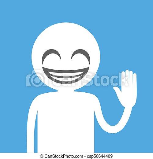 happy smile face illustration - csp50644409