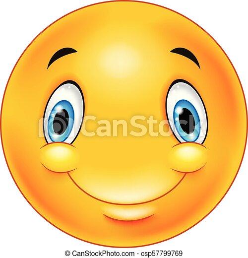 Happy smiley emoticon face - csp57799769