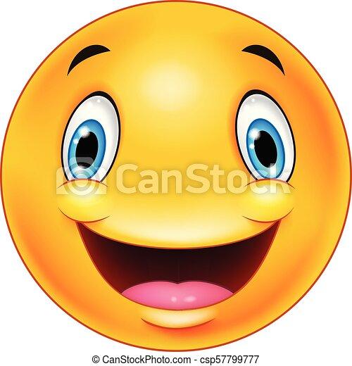 Happy smiley emoticon face - csp57799777