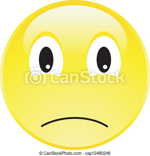 Happy Smiley Face Button - csp12480248