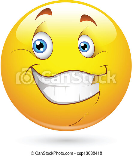 Happy Smiley Face Character - csp13038418