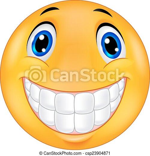Happy smiley face - csp23904871