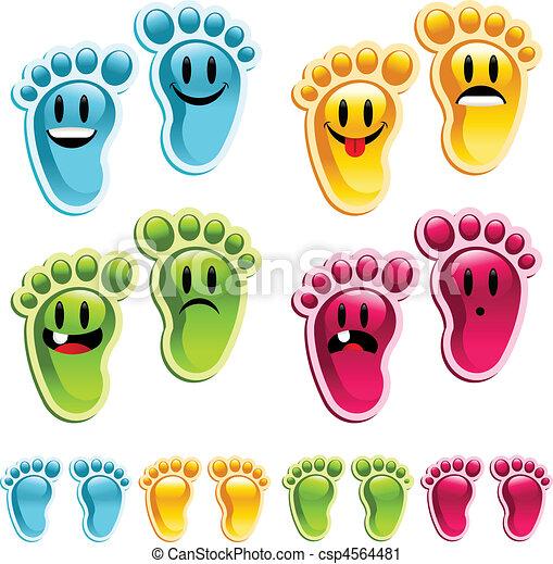 Happy Smiley Feet - csp4564481