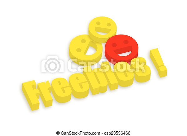 Happy Smiley with Freebies - csp23536466