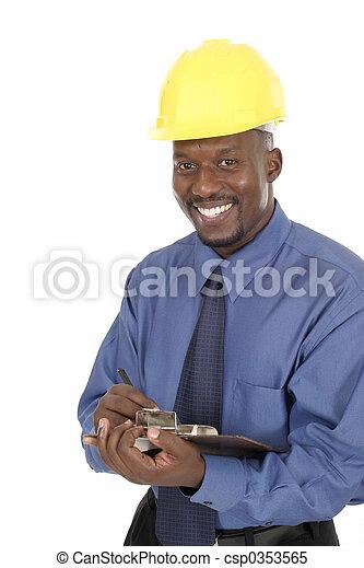 Happy Smiling Architect Engineer 1 - csp0353565