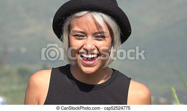 Happy Smiling Asian Woman - csp52524775