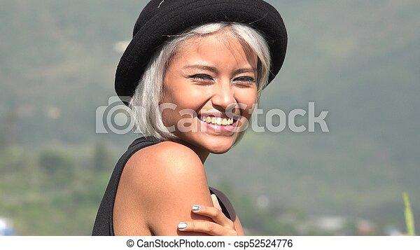 Happy Smiling Asian Woman - csp52524776