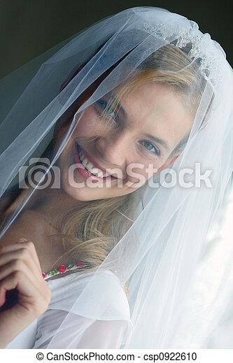 Happy Smiling Beautiful Bride - csp0922610