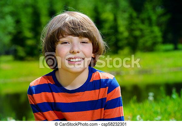 happy smiling boy - csp58232301