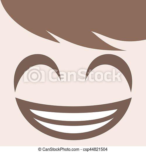happy smiling face design - csp44821504