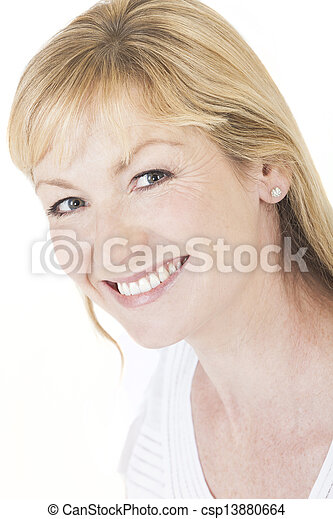 Happy Smiling Middle Aged Woman - csp13880664
