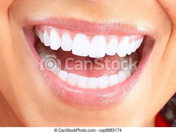 Happy smiling woman. - csp8883174