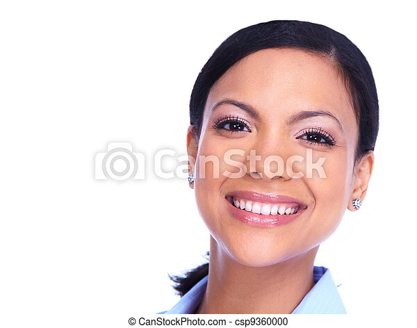 Happy smiling woman. - csp9360000