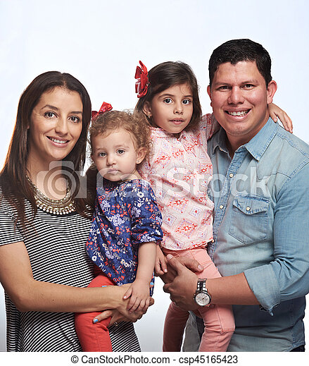 Happy smiling young family - csp45165423