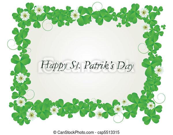 Happy St. Patrick card - csp5513315