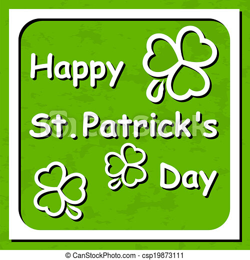 Happy St. Patrick's Day - Greeting - csp19873111