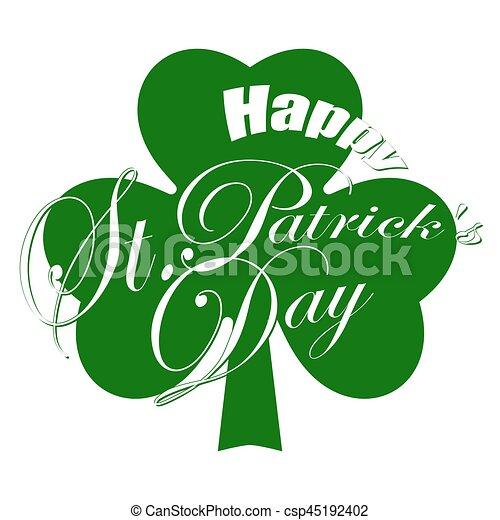 Happy St. Patricks day - csp45192402