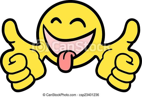 happy sticker - csp23401236