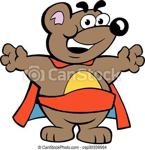 happy strong super hero bear clip art vector search drawings and rh canstockphoto com strong clipart free strong clipart free