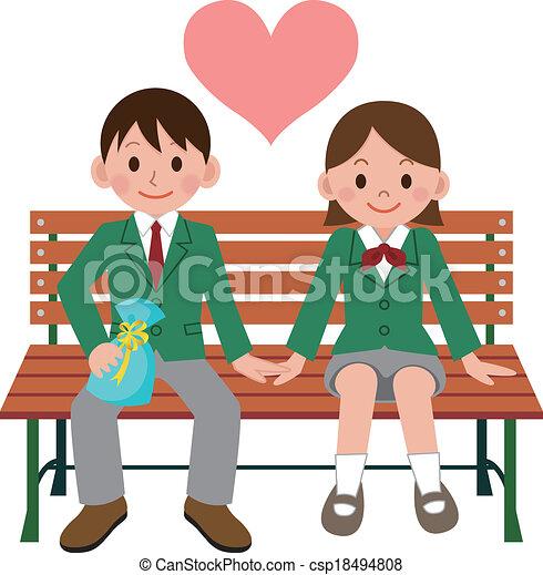 happy student couple rh canstockphoto com