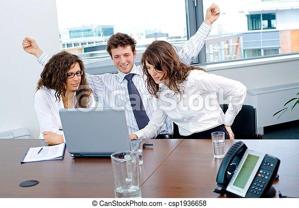 Happy successful business team - csp1936658