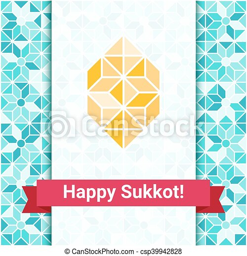 Happy sukkot greeting card with etrog four species palm happy sukkot greeting card with etrog csp39942828 m4hsunfo