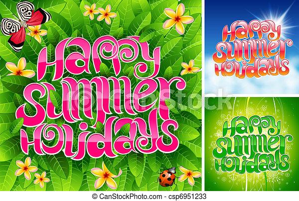 Happy Summer Holiday Stock Illustration