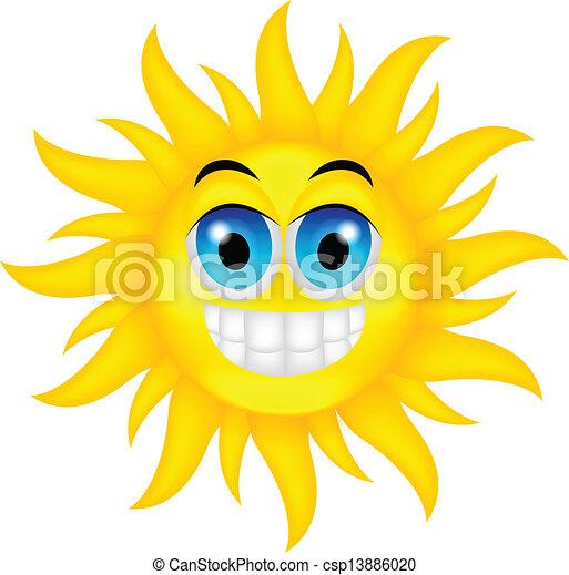 vector illustration of happy summer sun vector illustration search rh canstockphoto com Hot Summer Sun Hot Summer Sun
