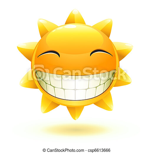 happy summer sun  - csp6613666