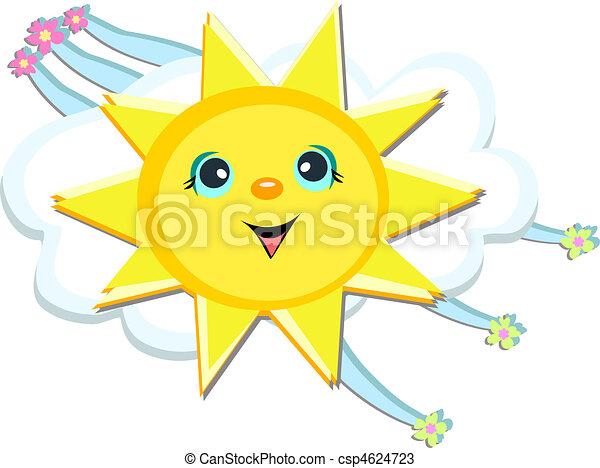Happy Sun Streams - csp4624723