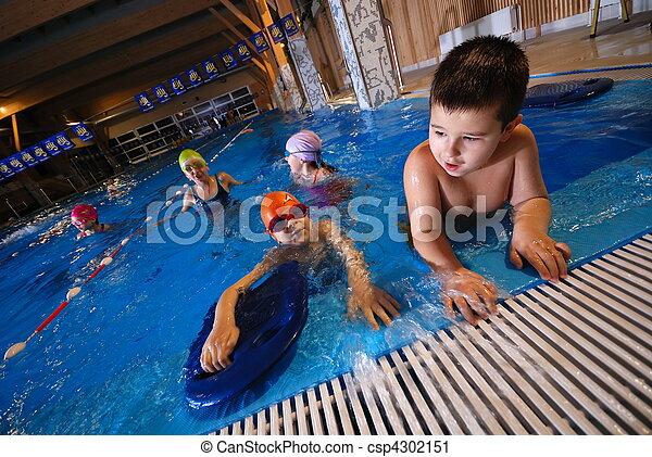 .happy swimmers - csp4302151