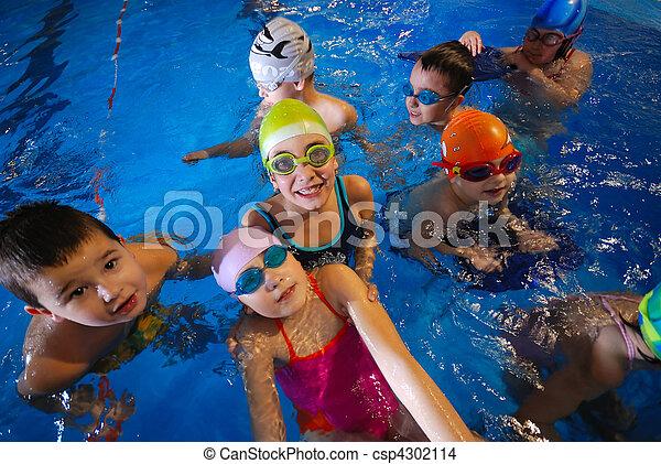 .happy swimmers - csp4302114