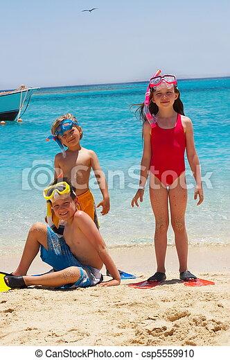 Happy Swimmers - csp5559910