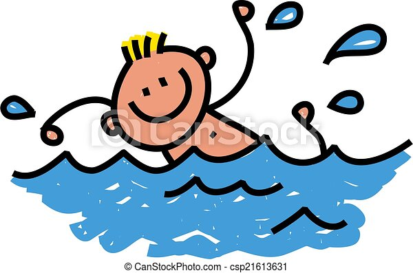happy swimming boy whimsical cartoon illustration of a happy boy rh canstockphoto com swimming pool cartoon images synchronized swimming cartoon images