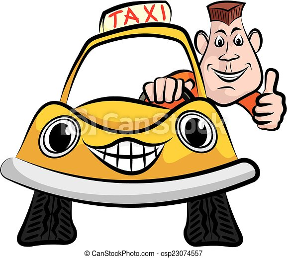 happy taxi driver cheerful taxi driver in his yellow cab clipart rh canstockphoto com driver clipart black and white driver clipart black and white