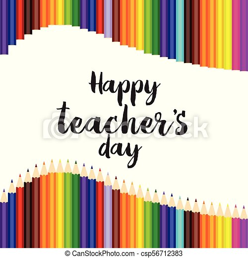 Happy teachers day greeting card with hand written text vector happy teachers day greeting card with hand written text vector m4hsunfo Image collections
