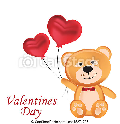 Happy Teddy Bear In Valentine S Day A Beautiful Happy Teddy Bear