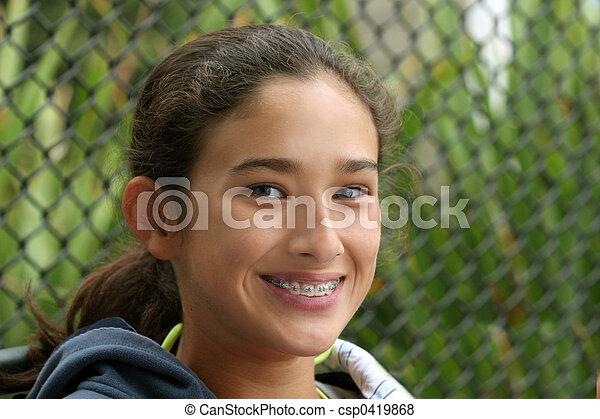 Happy teen girl - csp0419868