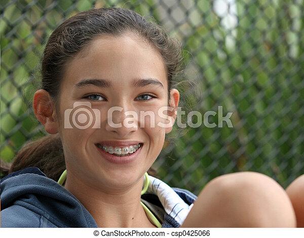 Happy teen girl - csp0425066
