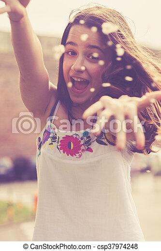 happy teen girl - csp37974248