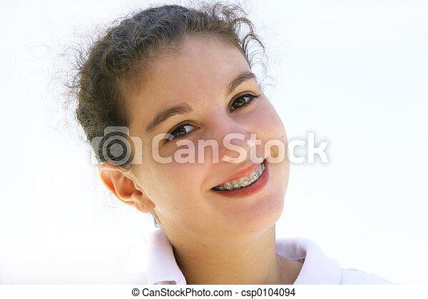 Happy teenage girl - csp0104094