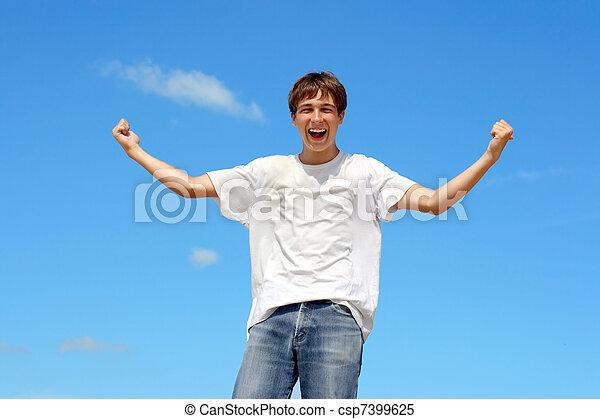 happy teenager - csp7399625