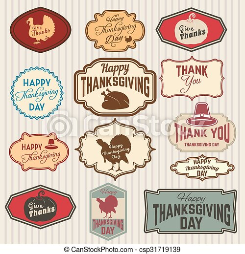 Happy Thanks Giving Day2eps Set Of Thanksgiving Clip Art Vector