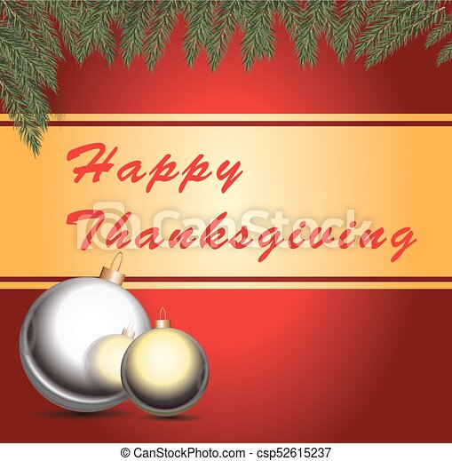 Happy Thanksgiving card - csp52615237