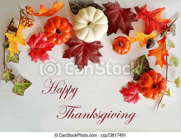 Happy Thanksgiving card - csp73817491