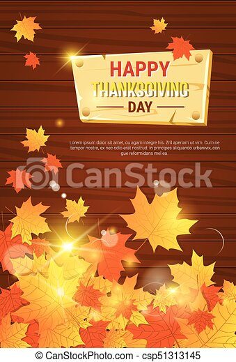 Happy thanksgiving day autumn traditional holiday greeting card flat happy thanksgiving day autumn traditional holiday greeting card csp51313145 m4hsunfo