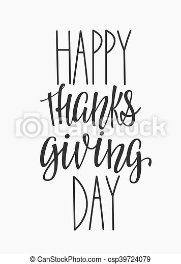 happy thanksgiving day lettering typography happy thanksgiving day