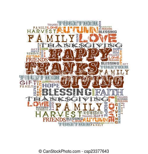 Happy Thanksgiving - csp23377643